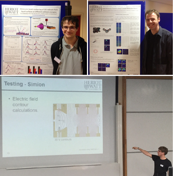 Robert & Tom present their posters and David delivers his talk